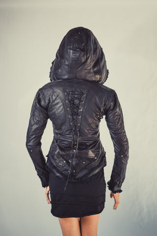 Victory Python edition leather jacket womens cut