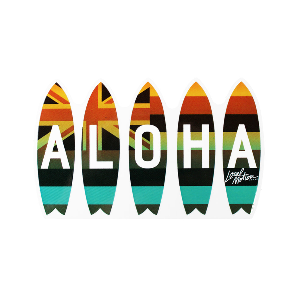 ALOHA FLAG BOARDIES DECAL (DECFLAK)