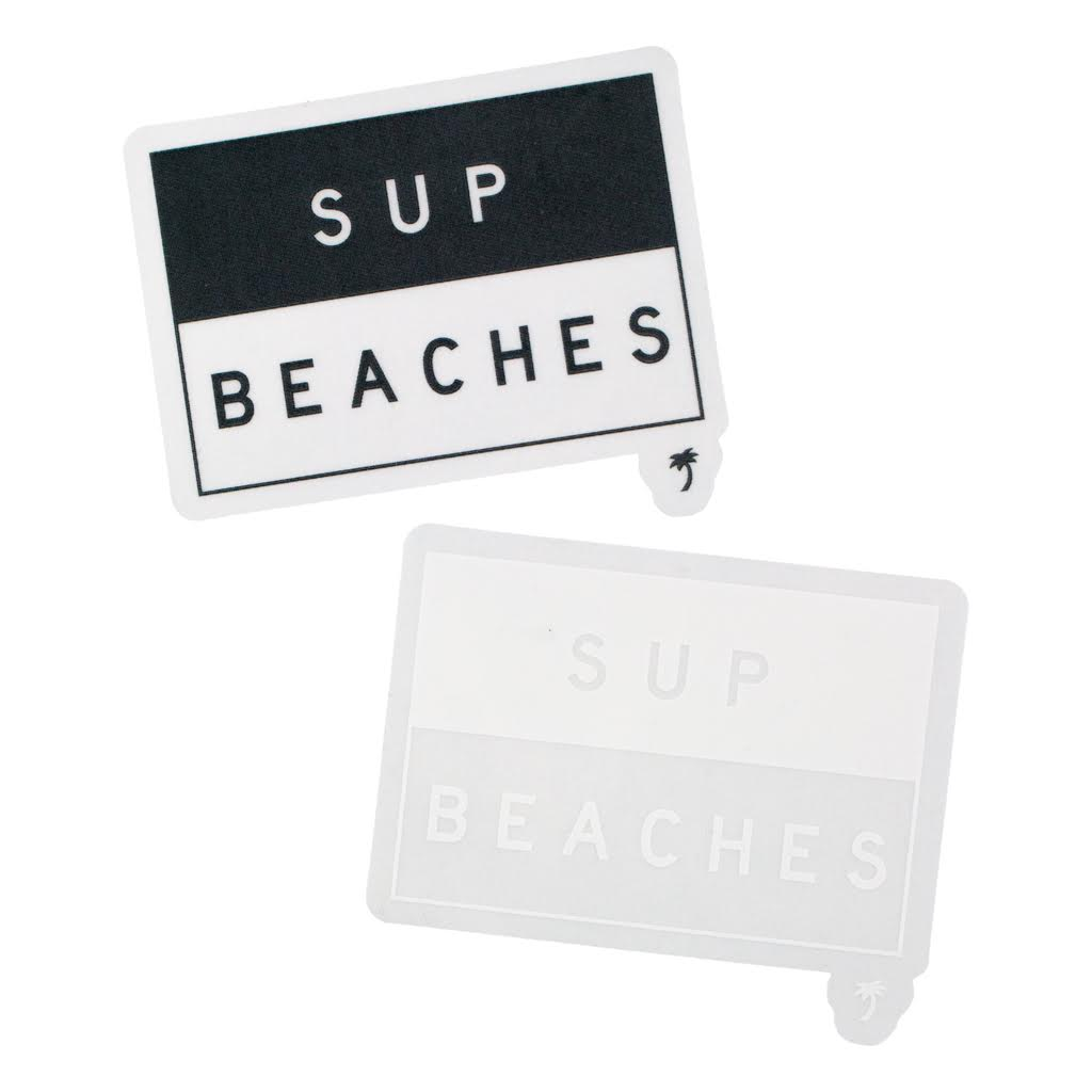 SUP BEACHES DECAL (DEC5411A)
