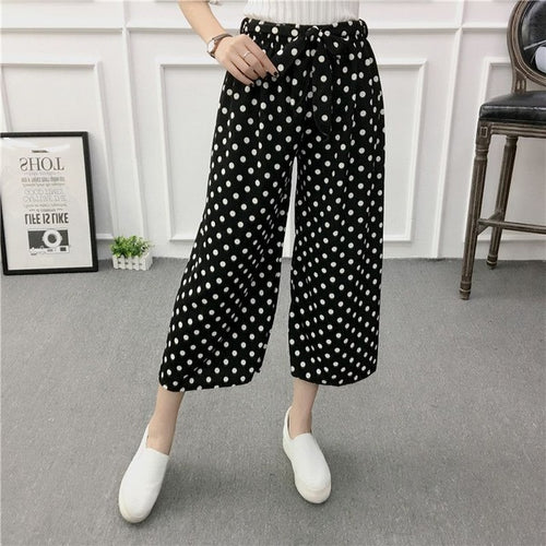 High Waisted Dotted Pants