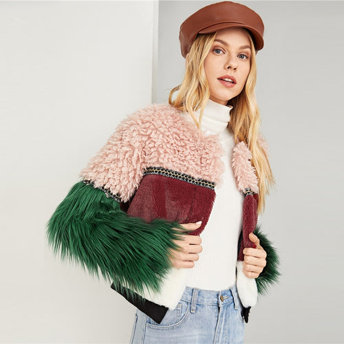 Teddy Vegan Fur Jacket