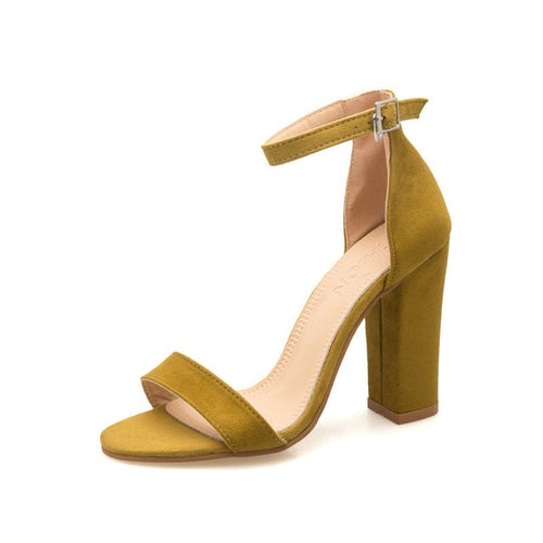 Strappy Blocked Heel Sandals