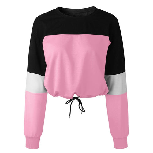 Colorblocked Sweater With Waist Ties