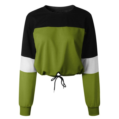 Green Sweater With Waist Ties