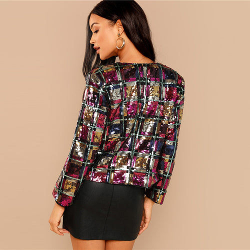 Multicolor Sequin Jacket