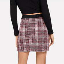Load image into Gallery viewer, Button Up Tweed Skirt