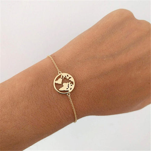 World Map Simplistic Bracelet