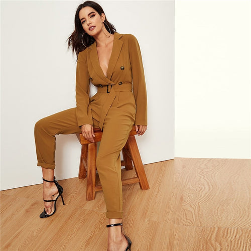 Waisted Blazer Jumpsuit
