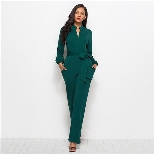 Green Waisted Jumpsuit