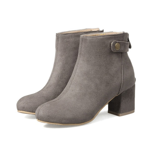Ankle Boots With Button