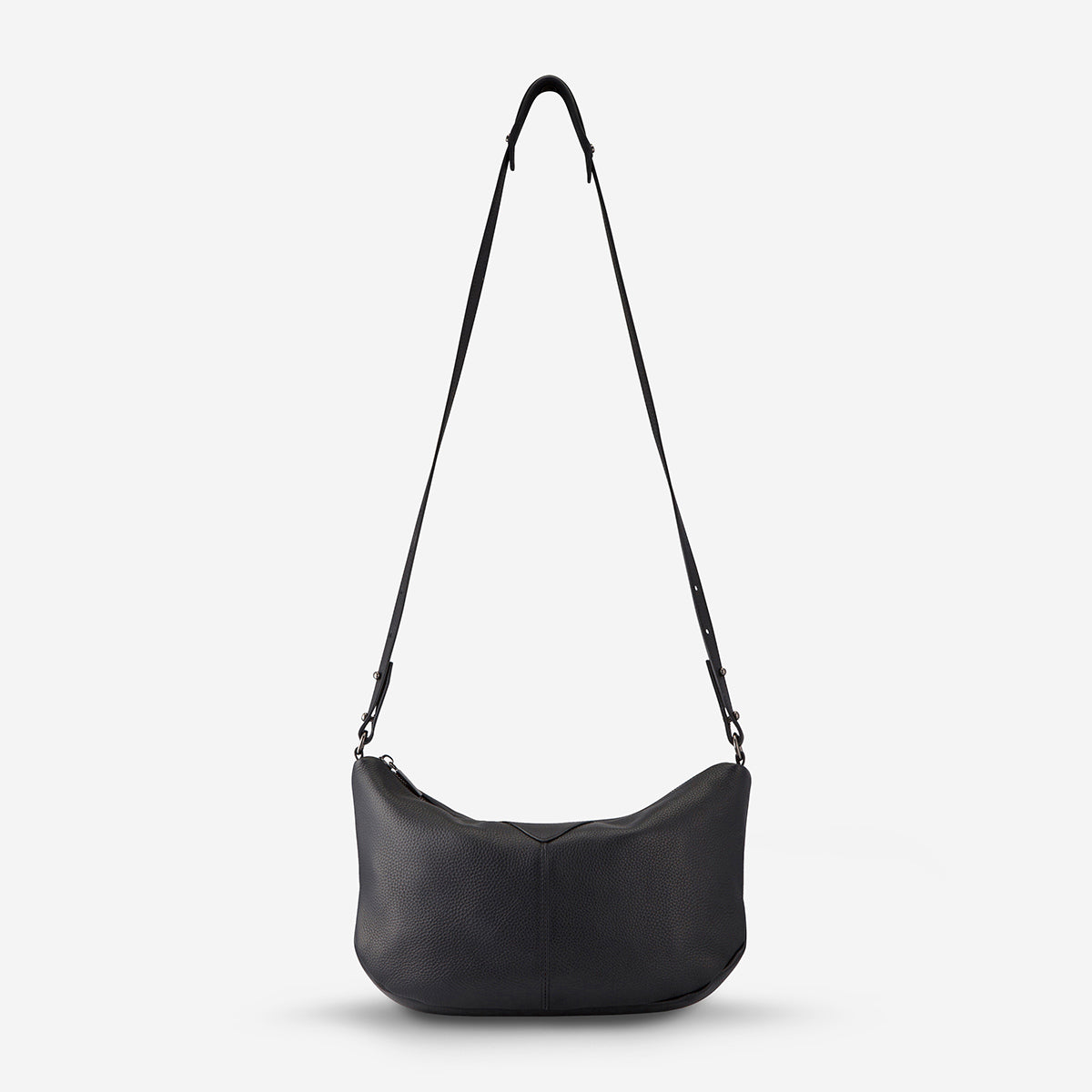 Status Anxiety At A Loss Women's Leather Crossbody Slouch Bag - Black - Inside