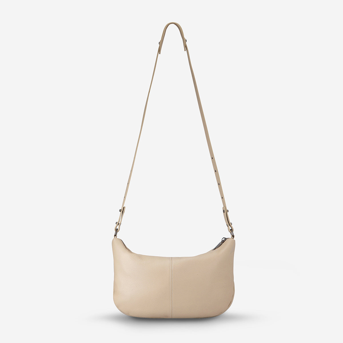 Status Anxiety At A Loss Women's Leather Crossbody Slouch Bag - Nude