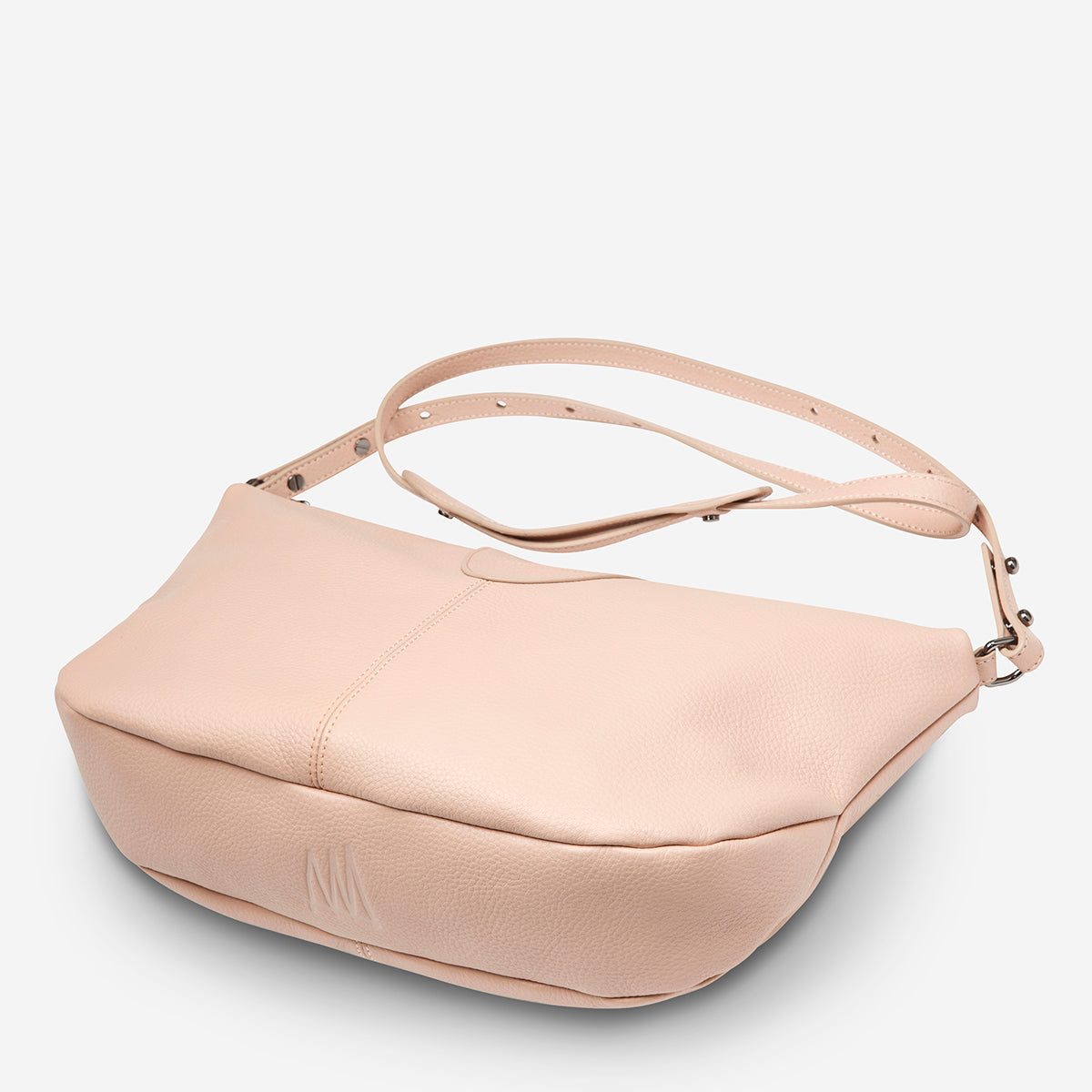 Status Anxiety At A Loss Women's Leather Crossbody Slouch Bag - Pink
