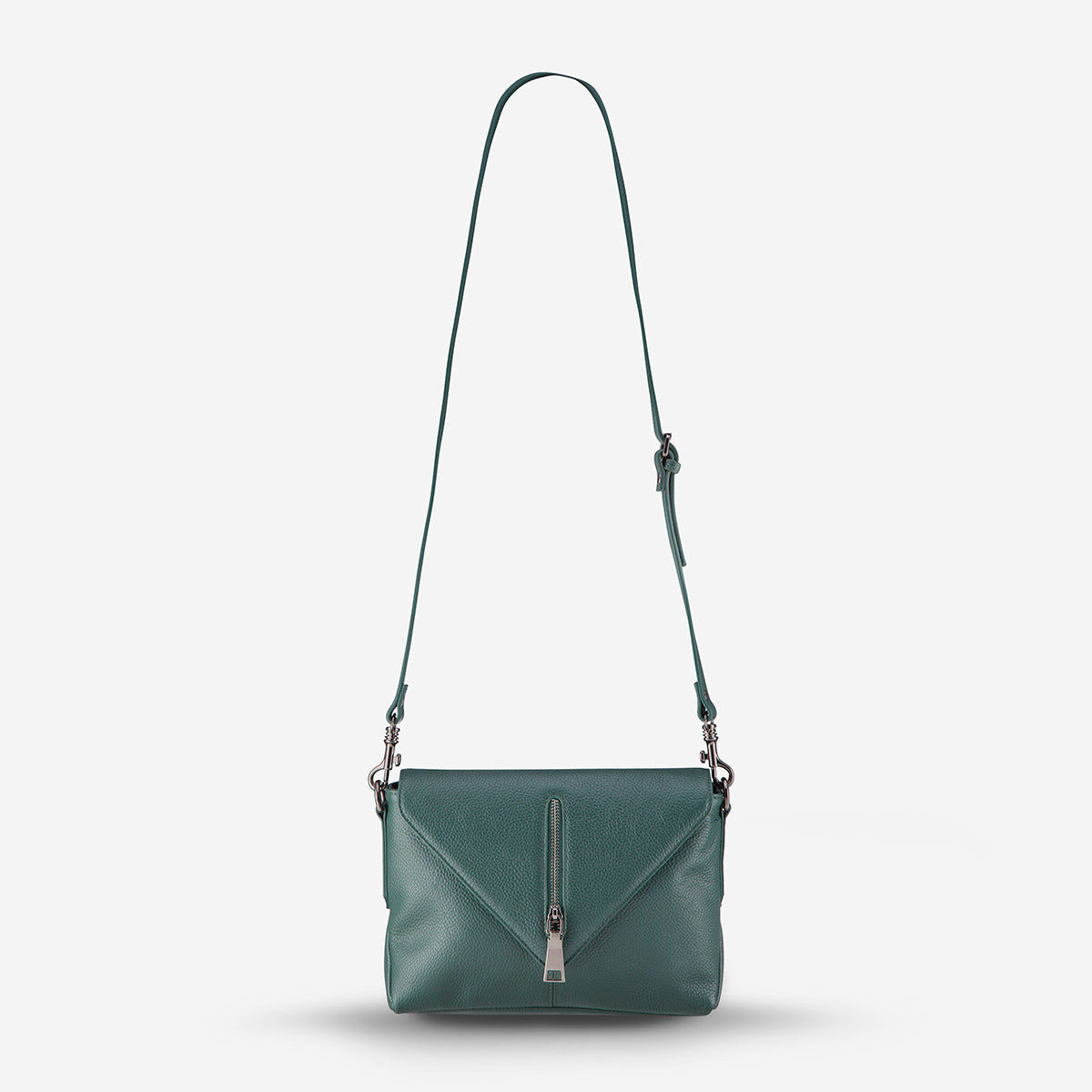 Status Anxiety Exile Crossbody Leather Bag - Green