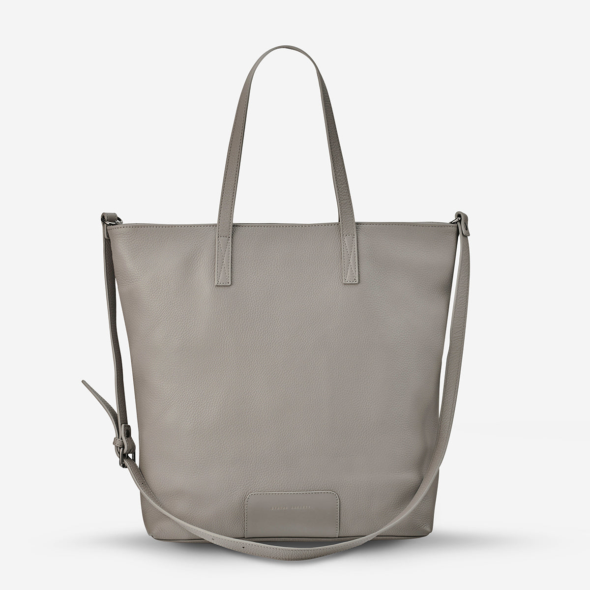 Status Anxiety Fire On The Vine Women's Large Leather Tote Bag - Light Grey