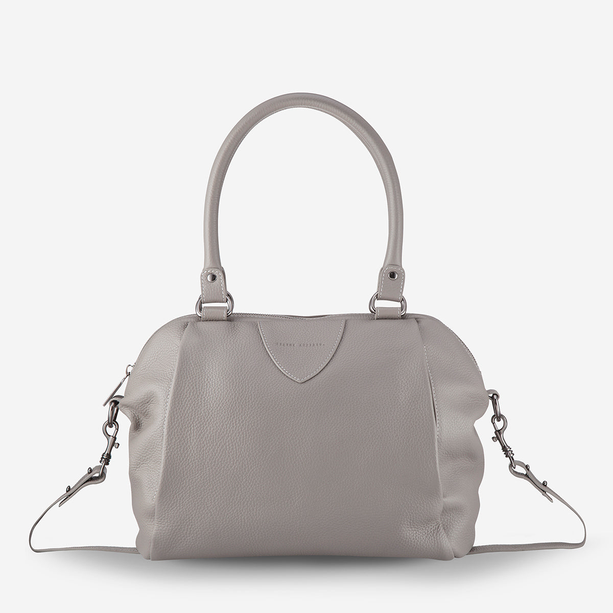 Status Anxiety Force Of Being Large Leather Bag - Light Grey