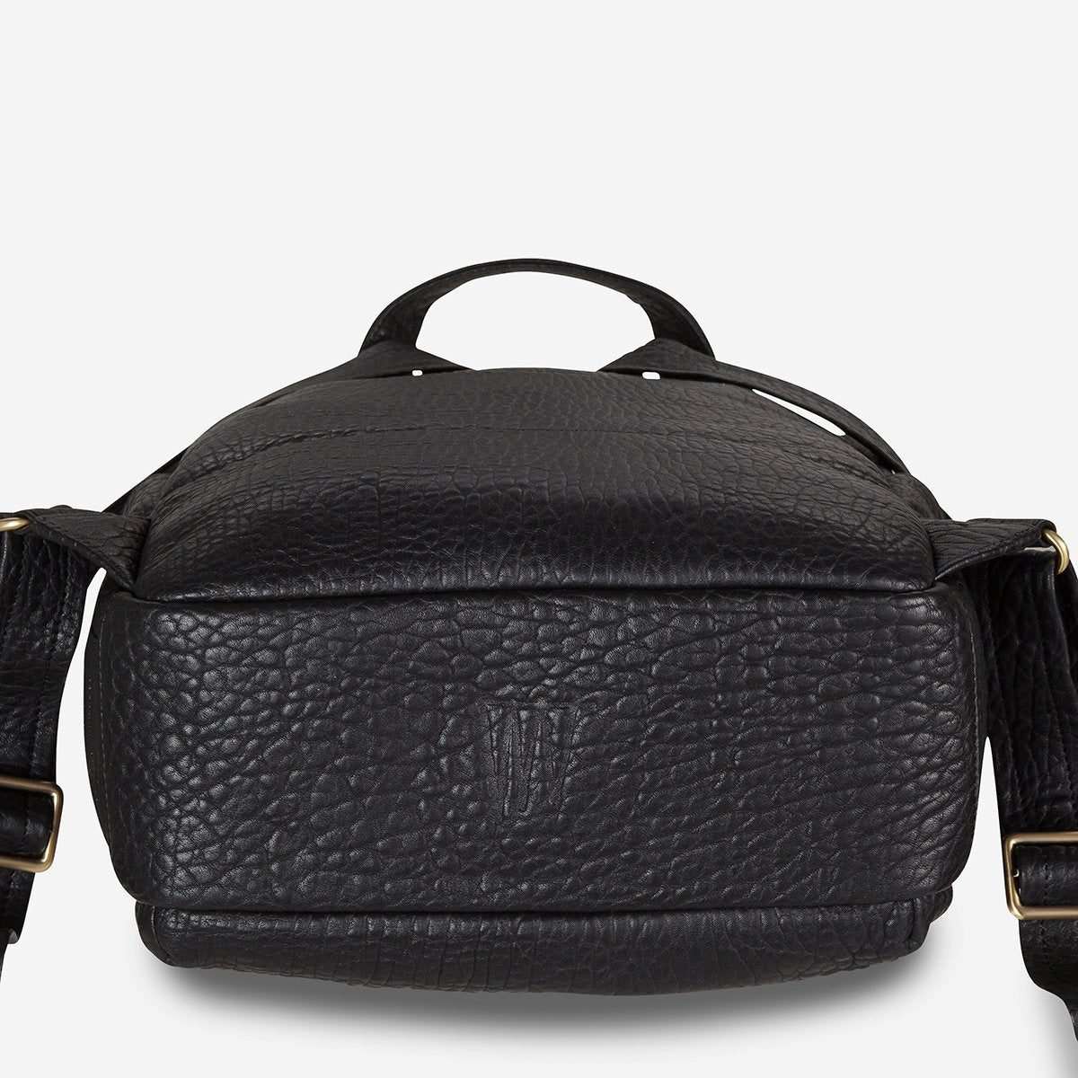 Status Anxiety People Like Us Leather Backpack - Black Bubble