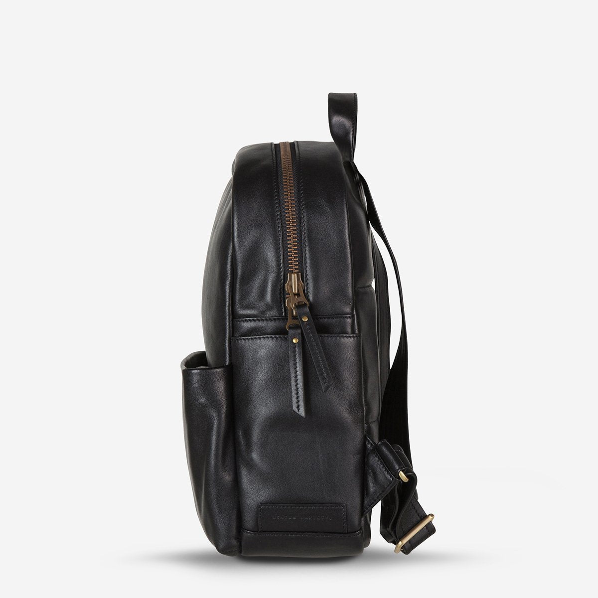 Status Anxiety People Like Us Leather Backpack - Black