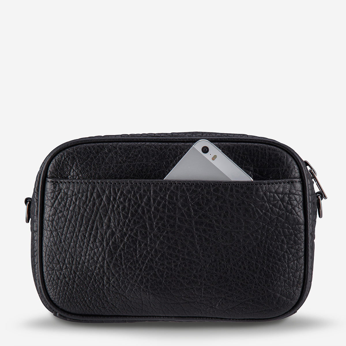 Status Anxiety Plunder Women's Leather Crossbody Bag - Black Bubble