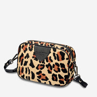 Status Anxiety Plunder Women's Crossbody Leather Bag - Leopard printed cowhide