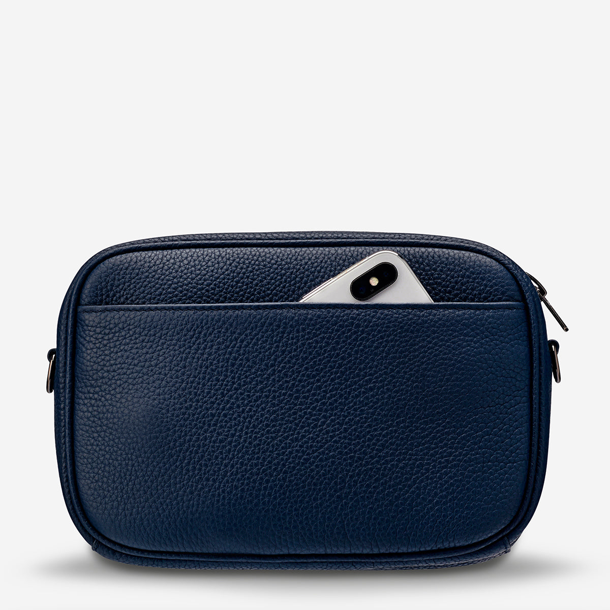 Status Anxiety Plunder Women's Crossbody Leather Bag - Navy Blue