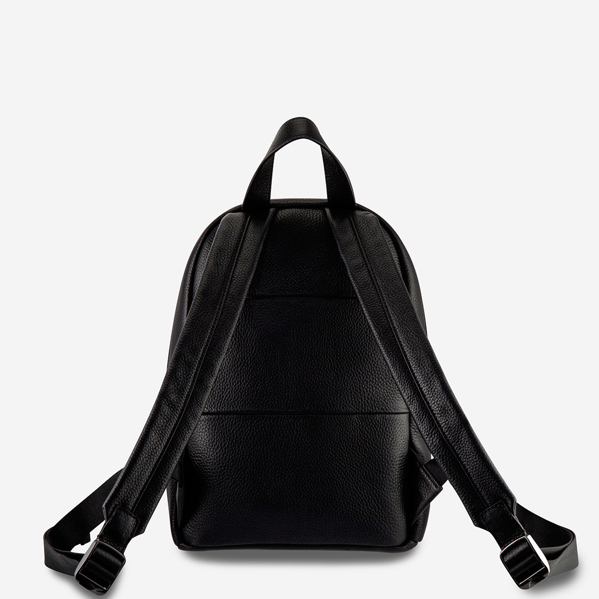Status Anxiety Racketeer Leather Backpack - Black