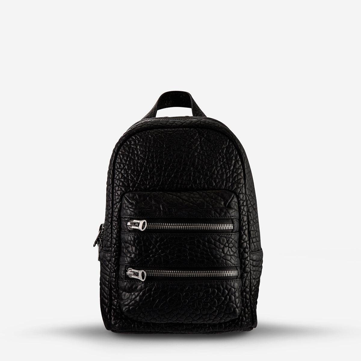 Status Anxiety Racketeer Leather Backpack - Black Bubble