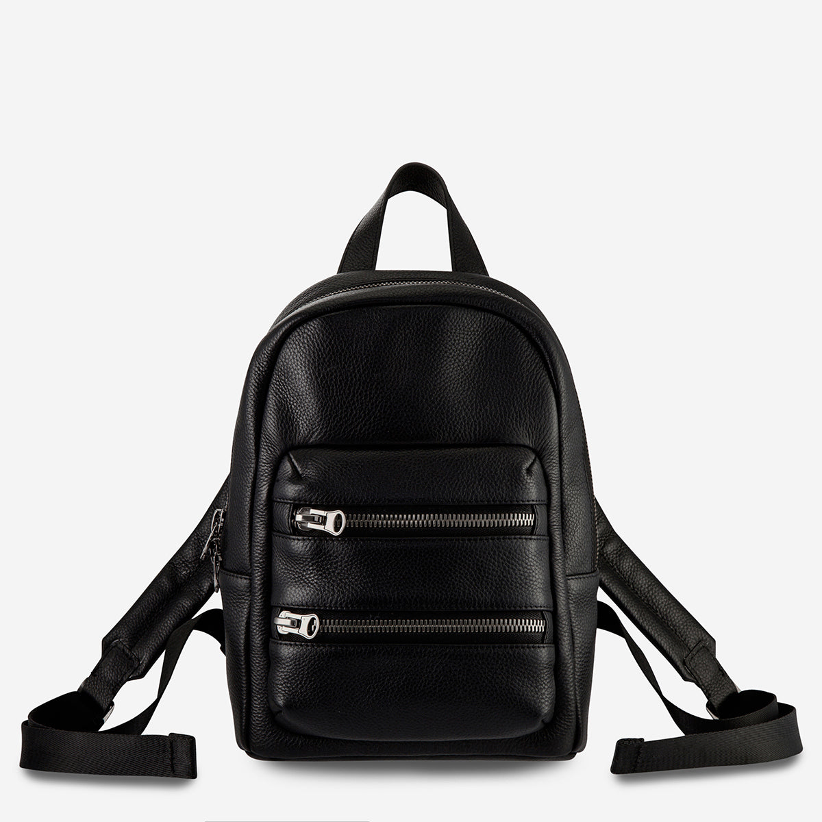 Status Anxiety Racketeer Women's Leather Backpack Black