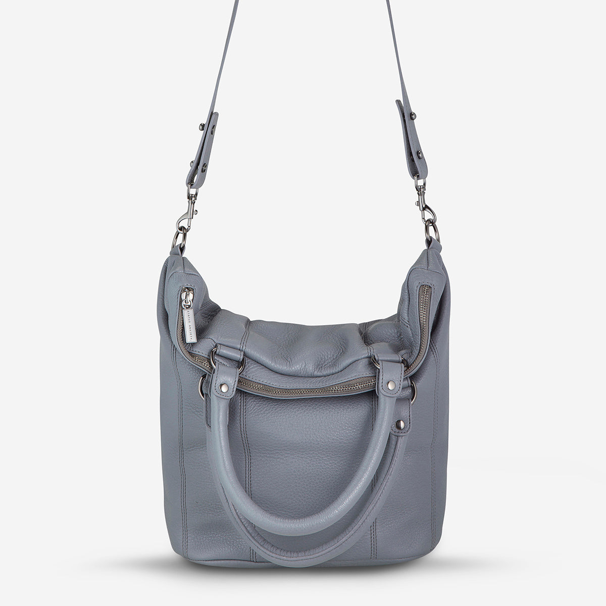 Status Anxiety Some Secret Place Leather Bag - Grey