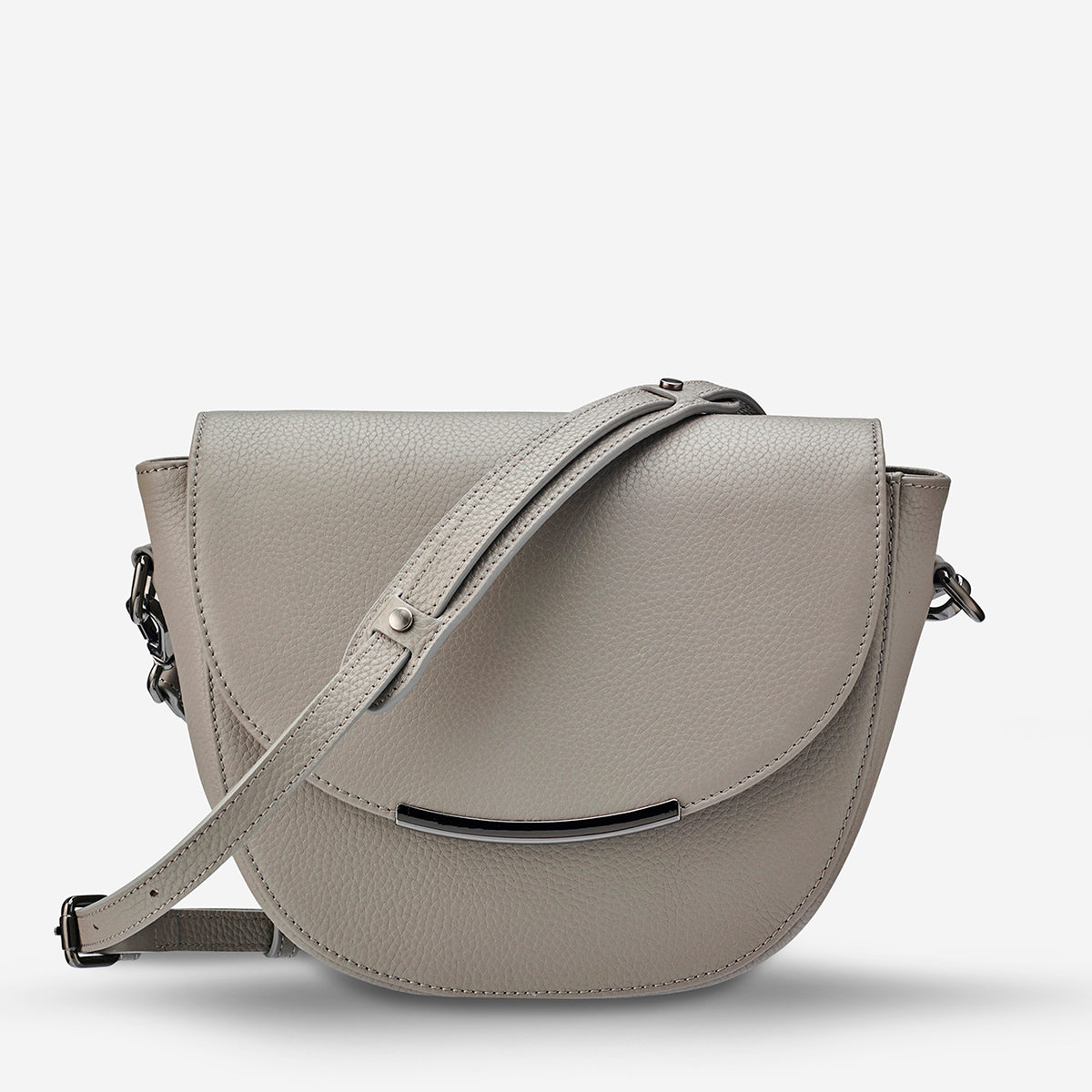 Status Anxiety The Oracle Women's Leather Crossbody Bag - Light Grey