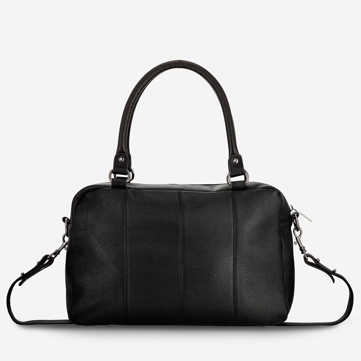 Status Anxiety War With Obvious Women's Leather Bag - Black