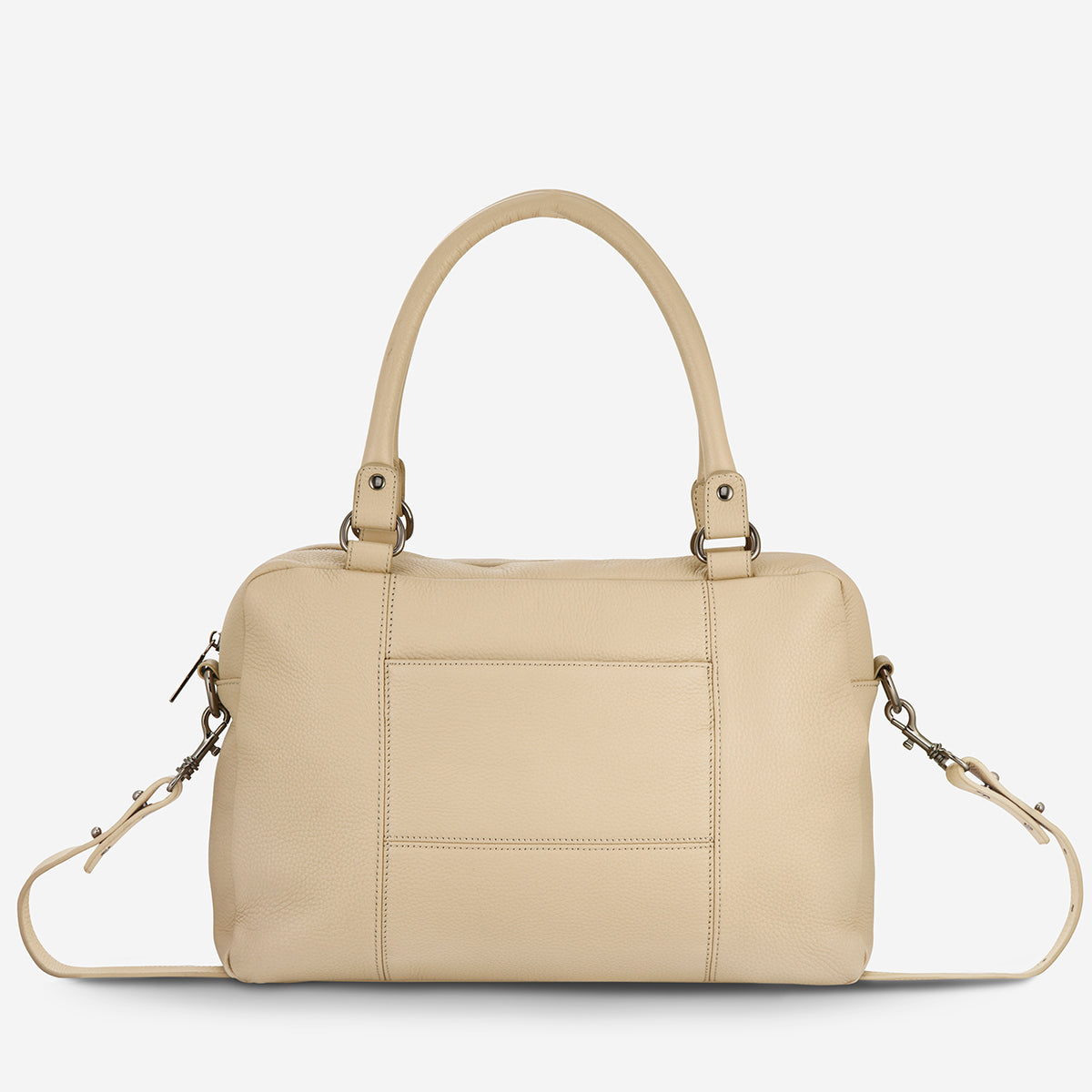 Status Anxiety War With Obvious Women's Leather Bag - Nude