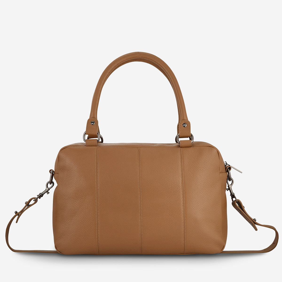 Status Anxiety War With Obvious Women's Leather Bag Tan