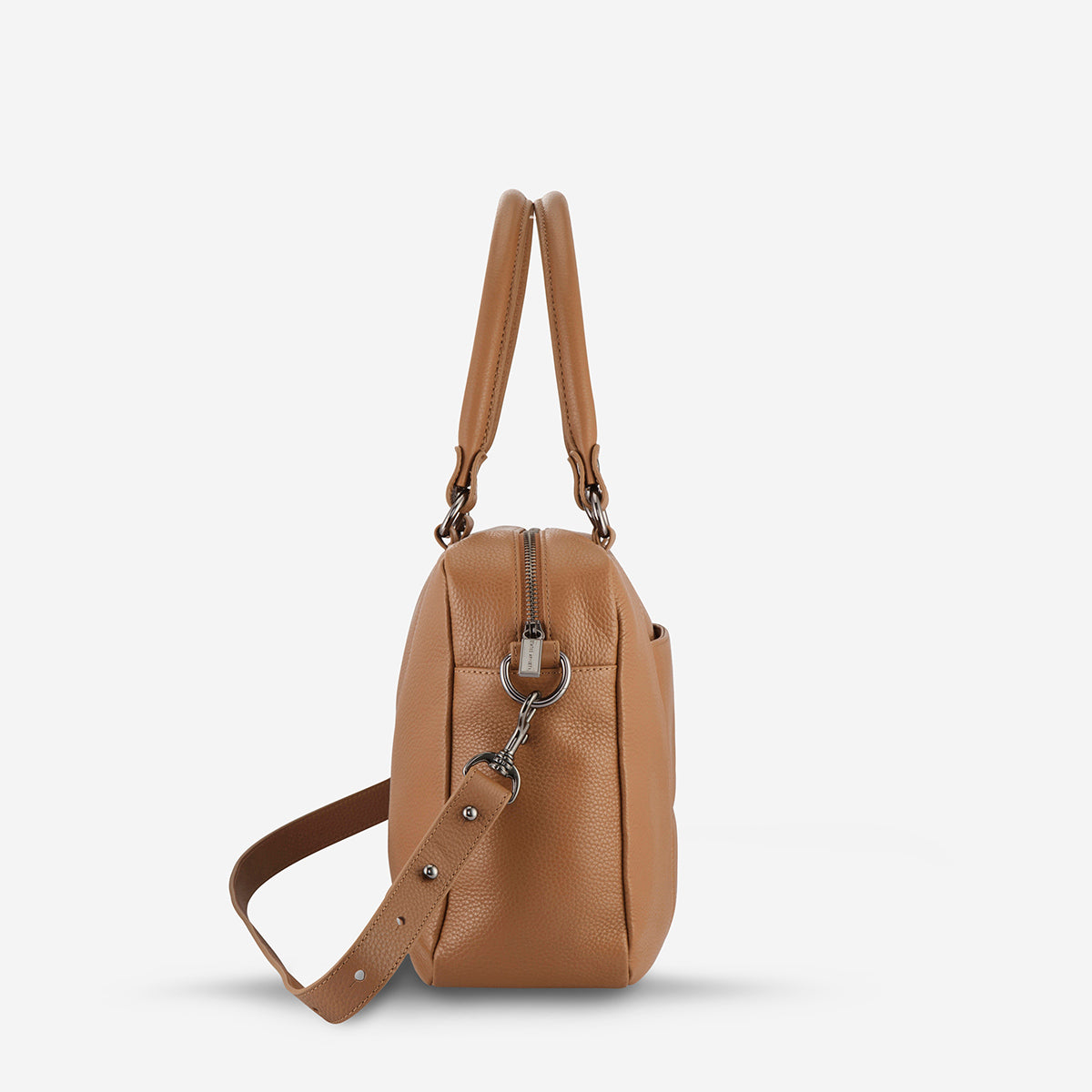 Status Anxiety War With Obvious Women's Leather Bag - Tan