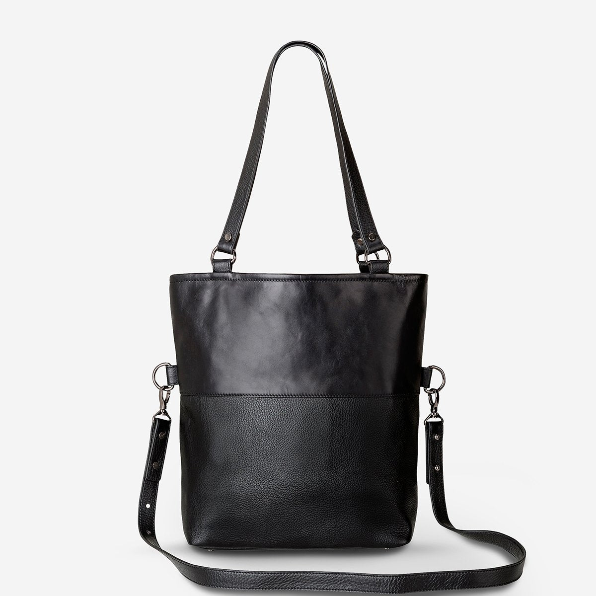 Status Anxiety Wasteland Women's Large Leather Tote Bag - Black