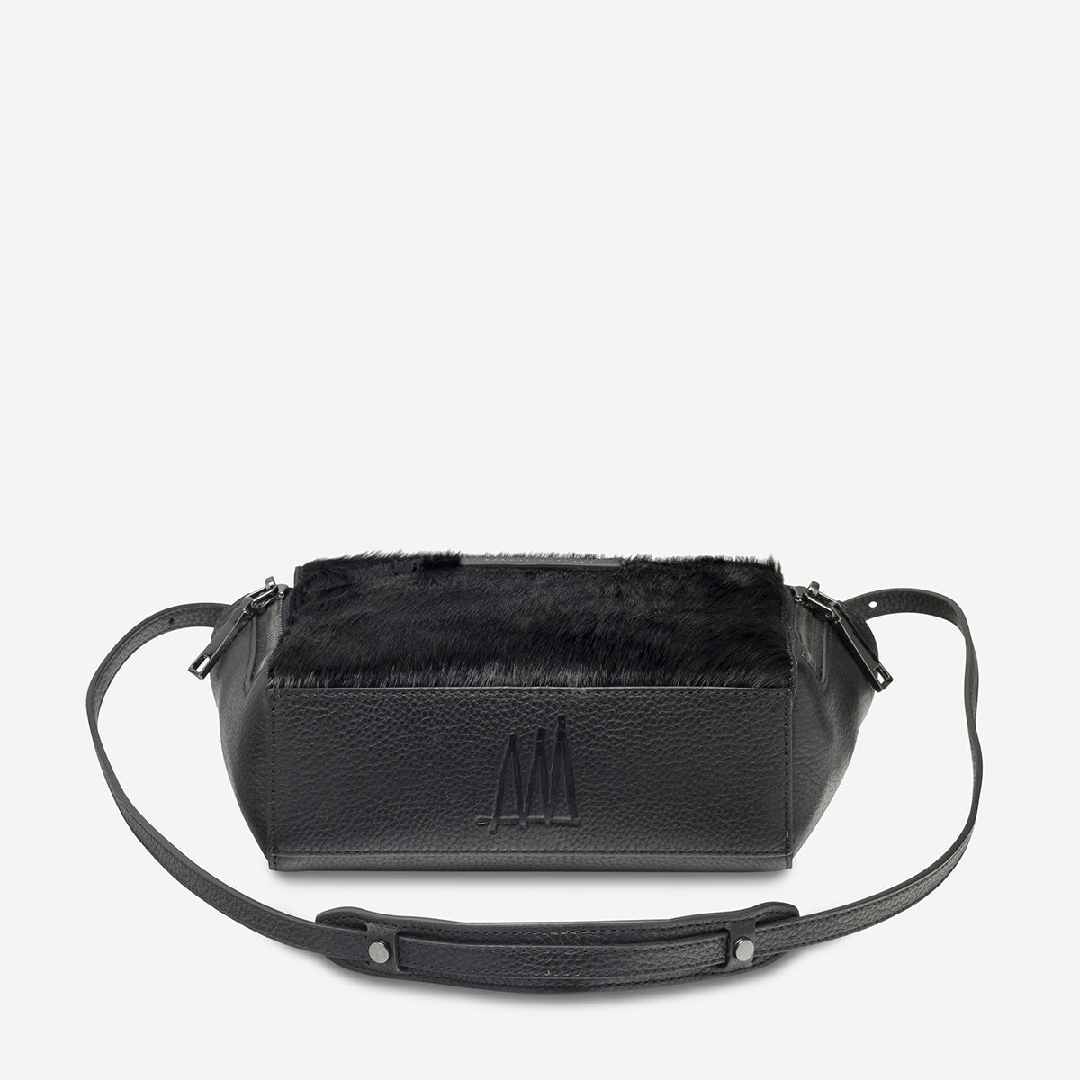 Status Anxiety The Ascendants Women's Leather Crossbody Bag - Black/Black Fur