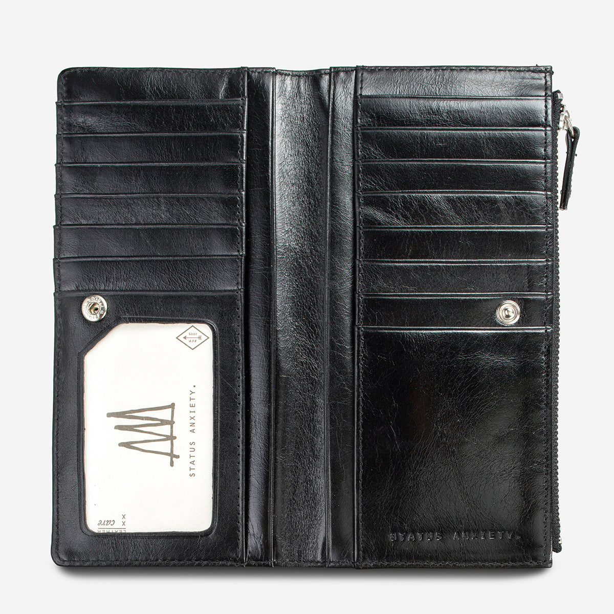 Status Anxiety Dakota Leather Wallet - Black
