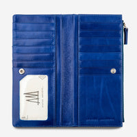 Status Anxiety Dakota Leather Wallet - Royal Blue