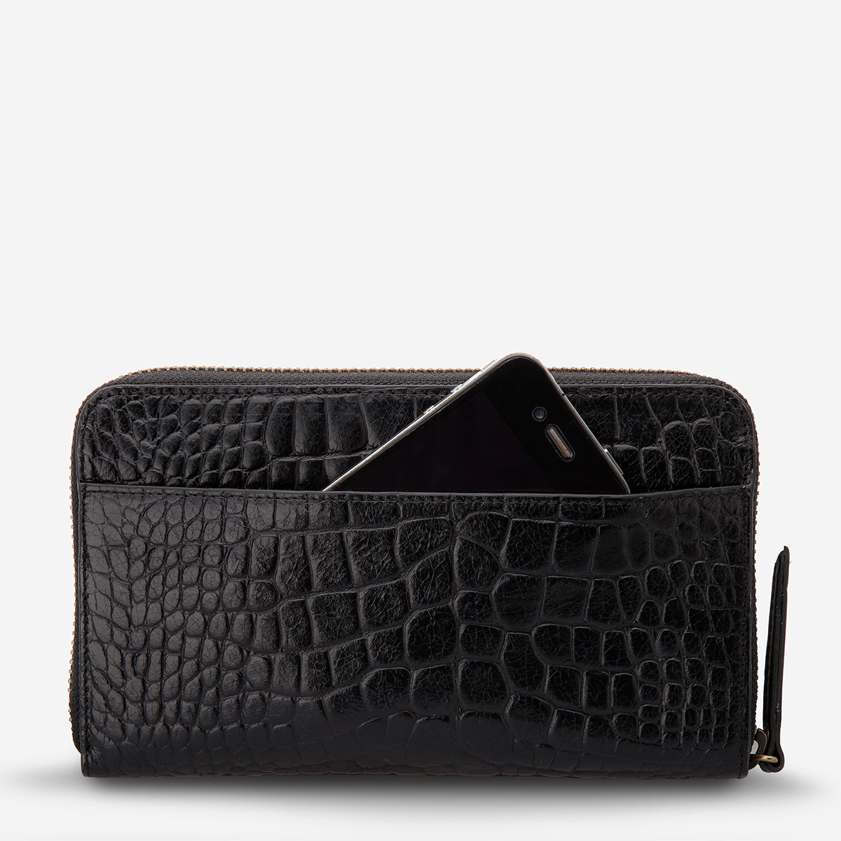 Status Anxiety Delilah Travel Wallet - Black Croc
