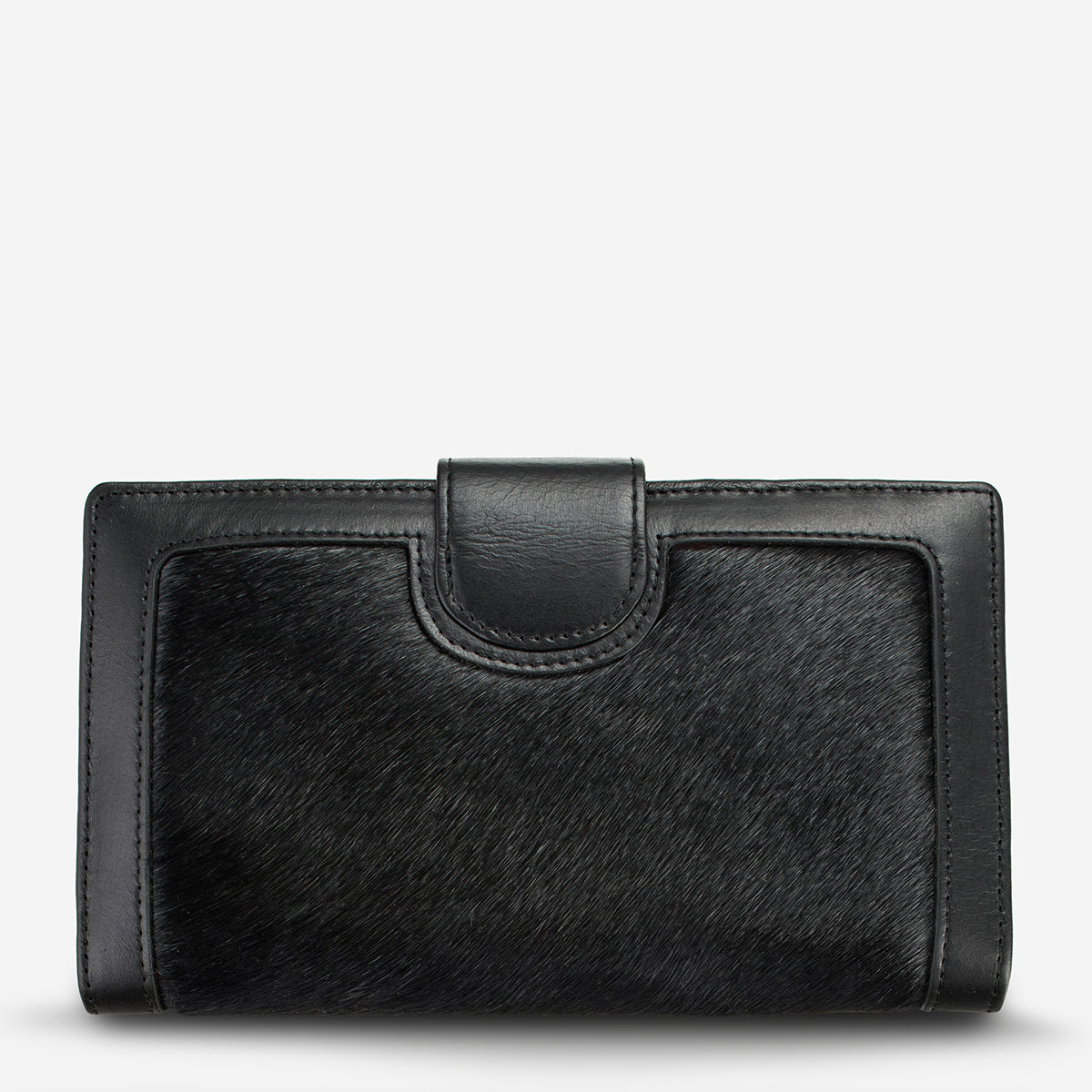 Status Anxiety Doris Large Leather Wallet - Black