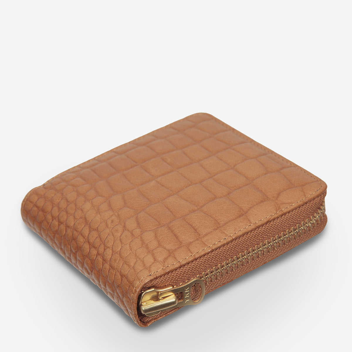 Status Anxiety Empire Leather Wallet - Tan Croc