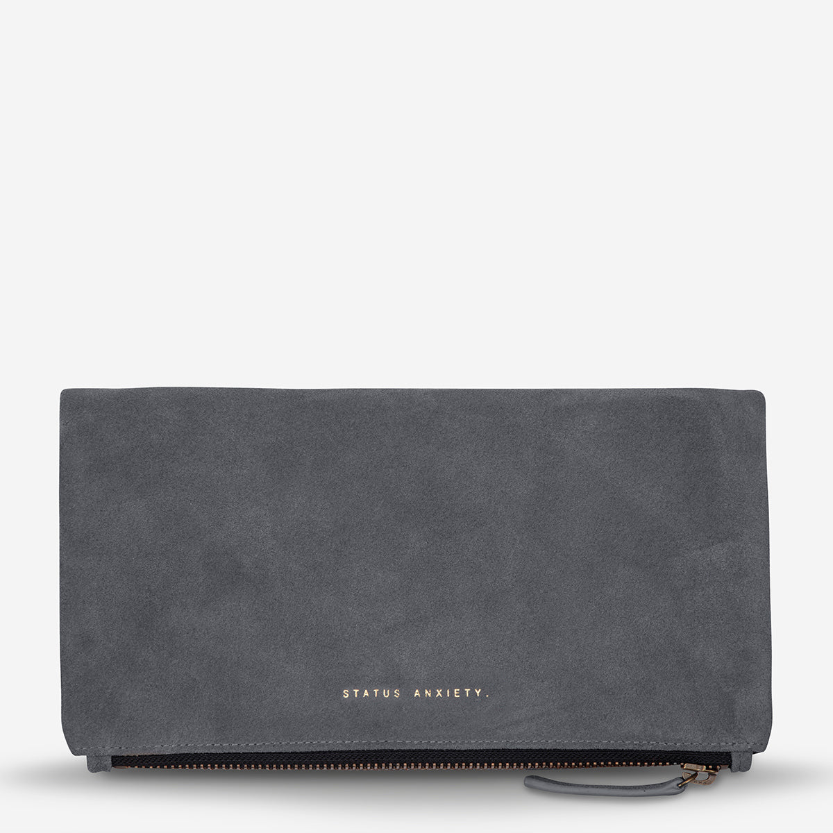 Status Anxiety Feel The Night Women's Leather Clutch Wallet Slate