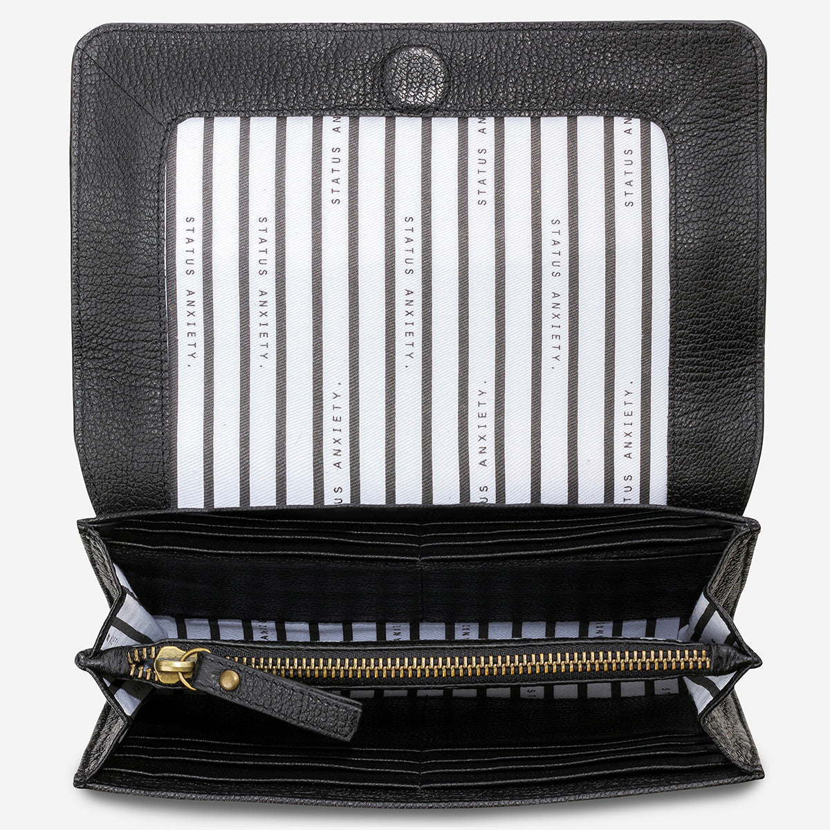 Status Anxiety Ida Leather Clutch - Black