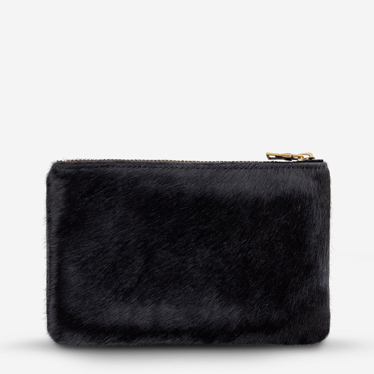 Status Anxiety Maud Womens Leather Wallet - Black Fur