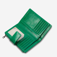 Status Anxiety Outsider Women's Leather Wallet - Emerald