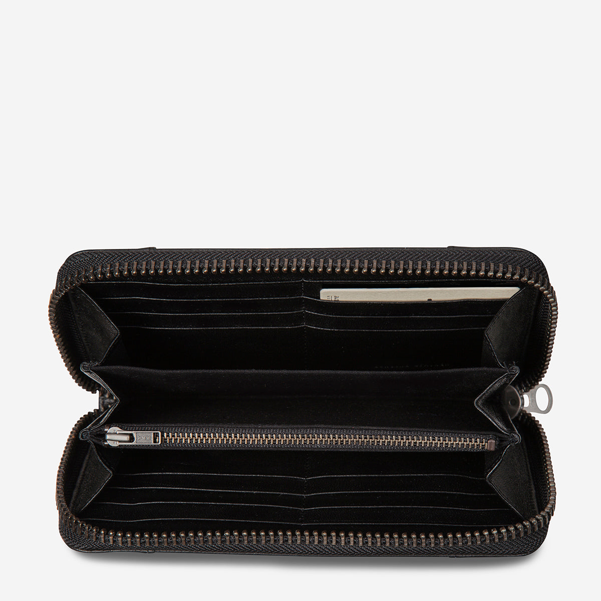 Status Anxiety State Of Flux Leather Wallet - Black