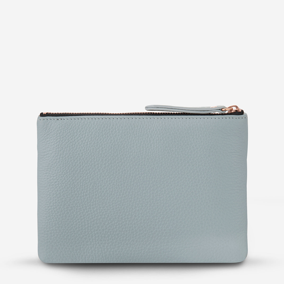 Status Anxiety Treacherous Leather Pouch - Arctic Grey