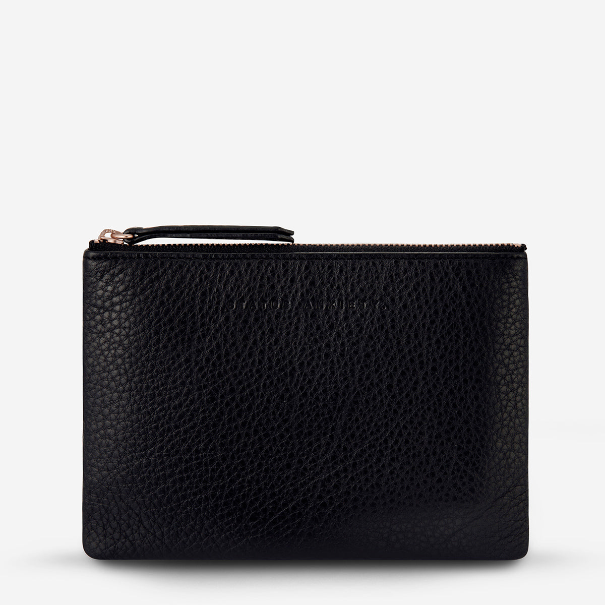 Status Anxiety Treacherous Leather Pouch - Black