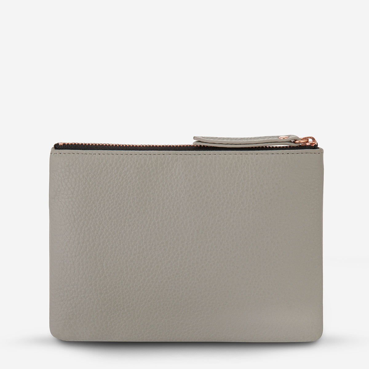 Status Anxiety Treacherous Women's Leather Pouch - Light Grey