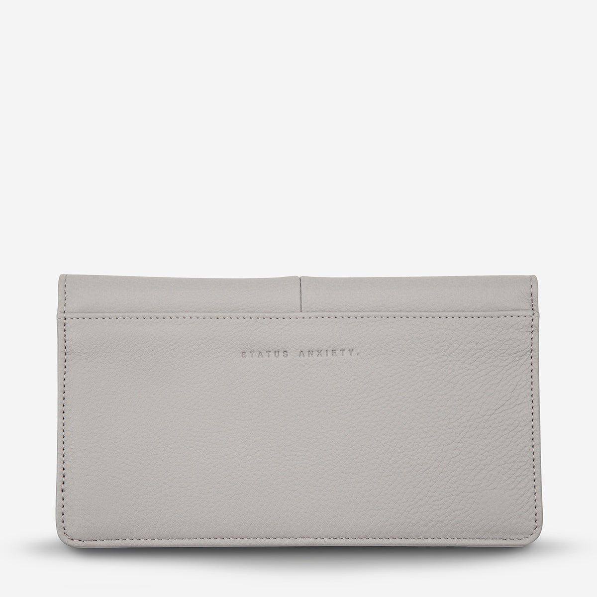 Status Anxiety Triple Threat Women's Leather Wallet - Light Grey